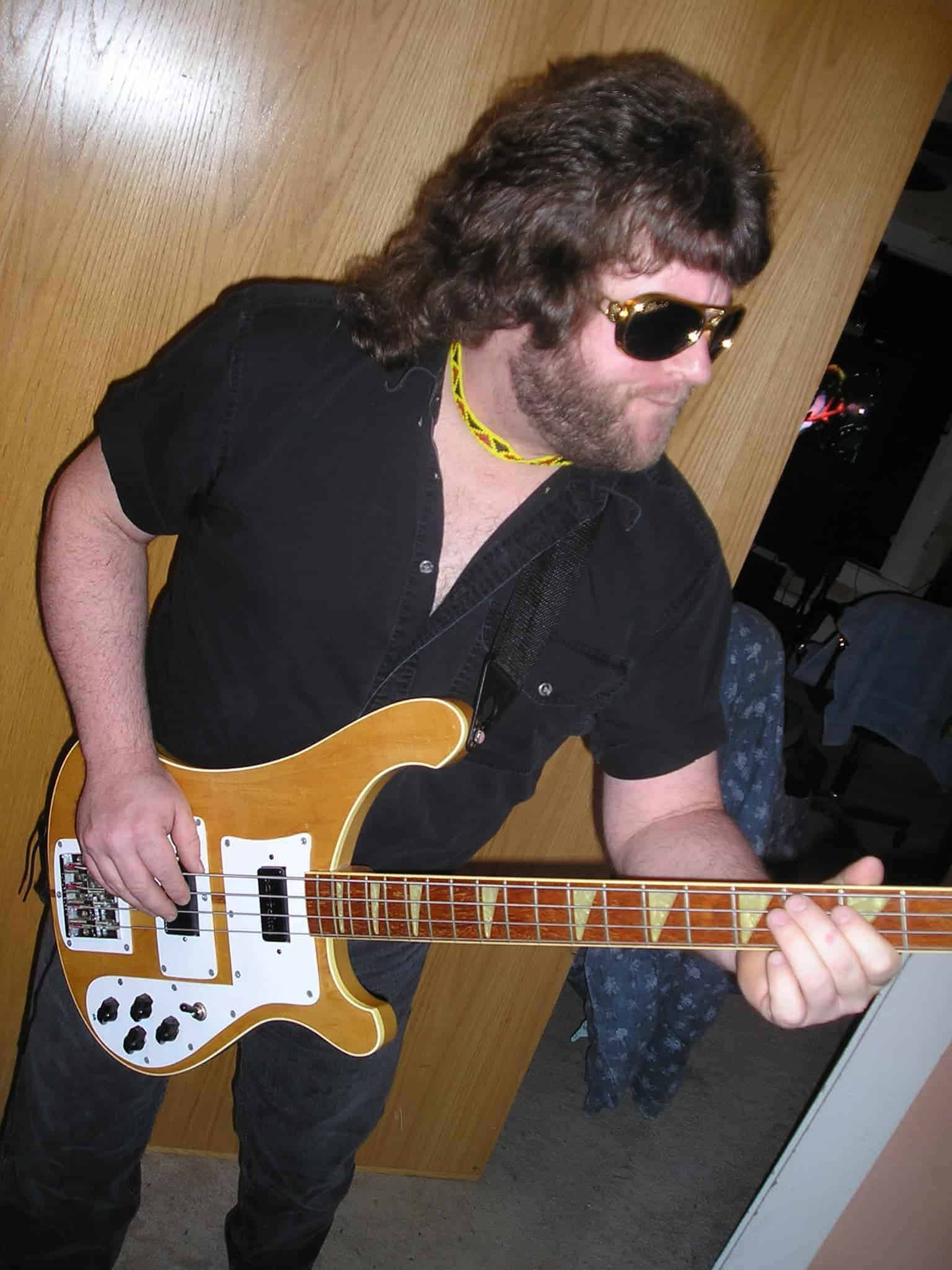 Bass Player David James In Boston
