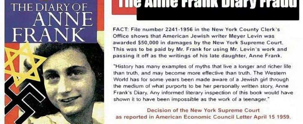 anne frank diary is a fraud proven